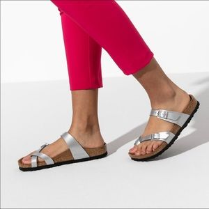 Birkenstock Mayari Birko-Flor In Graceful Silver